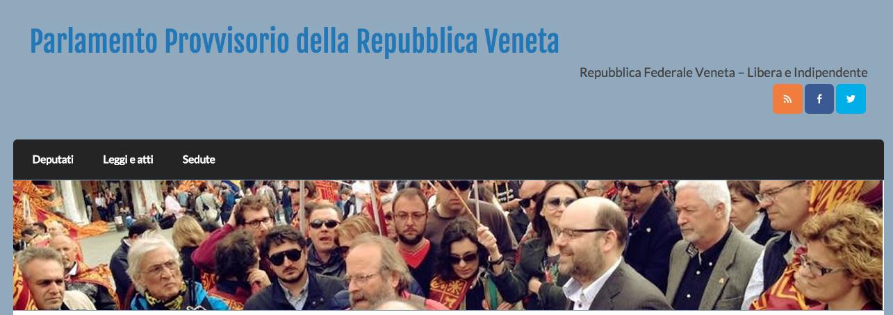 On line il sito del parlamento veneto republica veneta for Parlamento on line